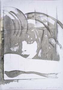 giosetta_fioroni-addiio_a_berlino-1968-vernice_alluminio_e_matita_su_carta-100x70_cm