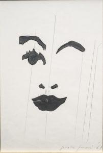 giosetta_fioroni-fisionomie-1969-vernice_alluminio_e_matita_su_carta-34x24_cm
