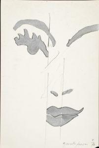 giosetta_fioroni-fisionomie-1970-vernice_alluminio_e_matita_su_carta-30x20_cm