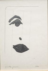 giosetta_fioroni-fisionomie-1970-vernice_alluminio_e_matita_su_carta-34x24_cm