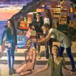 Incoronazione di Positano_Olio su lino_180 x 180 cm_2019