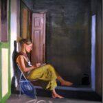 Stanza_ Olio su lino_ 190 x 140 cm_ 2020