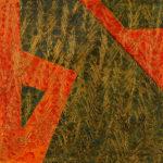 Yale Epstein - Geometric 24 - acrilico su carta - 15,24 x 15,24 cm