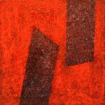 Yale Epstein - Geometric 28 - acrilico su carta - 15,24 x 15,24 cm