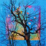 Yale Epstein - Tree 02 - tecnica mista su carta - 30,48 x 30,48 cm