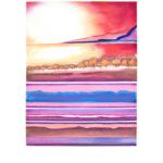 Yale Epstein - West Glow II - Acquaforte ritoccata a mano 36-40 - 90 x 68 - 60 x 45 cm