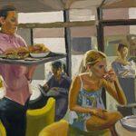 Ragazze al bar _ Olio su tavola_121 x 160 cm_ 2019