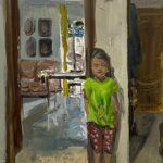 Elisabetta, interno_ Olio su tela_ 40 x 35 cm_ 2019