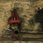 Lucio Del Pezzo - La noia, 1961 - tempera, olio e collage polimaterico su tavola, 50x70 cm