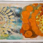 Judy Pfaff - rOOster 1, 2016 - Tecnica mista su carta - 68 x 30 cm