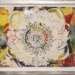 Judy Pfaff -rOOster 2, 2016 - Tecnica mista su carta - 68 x 30 cm
