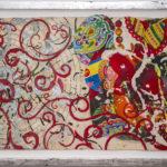 Judy Pfaff - rOOster 3, 2016 - Tecnica mista su carta - 68 x 30 cm