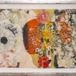 Judy Pfaff - rOOster 4, 2016 - Tecnica mista su carta - 68 x 30 cm