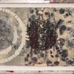 Judy Pfaff - rOOster 5, 2016 - Tecnica mista su carta - 68 x 30 cm
