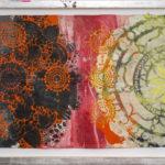 Judy Pfaff - rOOster 6, 2016 - Tecnica mista su carta - 68 x 30 cm