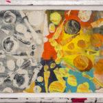 Judy Pfaff - rOOster 7, 2016 - Tecnica mista su carta - 68 x 30 cm