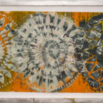 Judy Pfaff - rOOster 9, 2016 - Tecnica mista su carta - 72 x 31 cm