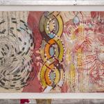 Judy Pfaff - rOOster 10, 2016 - Tecnica mista su carta - 72 x 31 cm