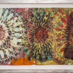 Judy Pfaff - rOOster 11, 2016 - Tecnica mista su carta - 72 x 31 cm