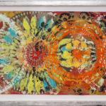 Judy Pfaff - rOOster 14, 2016 - Tecnica mista su carta - 72 x 31 cm