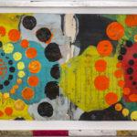 Judy Pfaff - rOOster 17, 2016 - Tecnica mista su carta - 73 x 31 cm