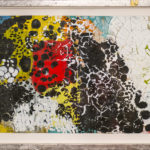 Judy Pfaff - rOOster 18, 2016 - Tecnica mista su carta - 73 x 30 cm