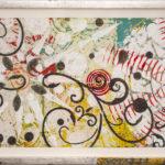 Judy Pfaff - rOOster 19, 2016 - Tecnica mista su carta - 73 x 30 cm