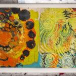 Judy Pfaff - rOOster 20, 2016 - Tecnica mista su carta - 73 x 31 cm