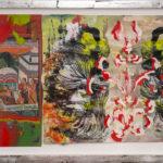 Judy Pfaff - rOOster 22, 2016 - Tecnica mista su carta - 57 x 30 cm