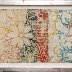 Judy Pfaff - rOOster 24, 2016 - Tecnica mista su carta - 102 x 33 cm