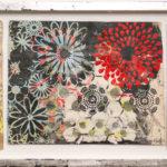 Judy Pfaff - rOOster 25, 2016 - Tecnica mista su carta - 107 x 32 cm