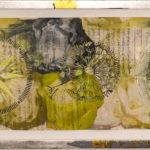 Judy Pfaff - rOOster 29, 2016 - Tecnica mista su carta - 134 x 33 cm