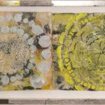 Judy Pfaff - rOOster 30, 2016 - Tecnica mista su carta - 134 x 33 cm
