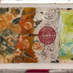 Judy Pfaff - rOOster 31, 2016 - Tecnica mista su carta - 149 x 31 cm