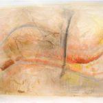 Carta velata 1, 2017, olio e collage su carta, 52 x 73 cm