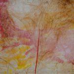 Piccolo velato 1, 2017, olio e collage su carta intelata, 50,5 x 70,5 cm