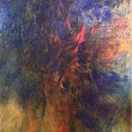 Albero, 2017/2018, olio e collage su tela preparata, cm 150x200