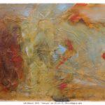 I love you, olio e collage su carta, 50x70 cm