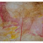 Piccolo Velato 1, olio e collage su tela preparata, 50x70 cm