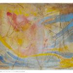 Piccolo Velato 2, olio e collage su tela preparata, 50x70