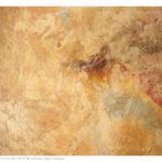 Pittura velata 1, olio e collage su tela preparata, 160x200 cm