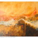 Pittura velata 2, olio e collage su carta