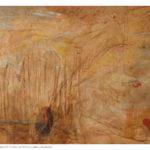 Pittura velata 3, olio e collage su tela preparata, 90x130 cm