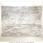 Scrittura velata, grafite e collage su carta, 50x70 cm