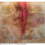 Senza titolo, olio e collage su carta preparata, 150x180 cm