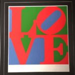Robert Indiana, Love, serigrafia a colori su carta, cm 94x87