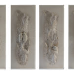 Passaggi, resina, cera, legno, plex e gesso, cm 160x80,2015,