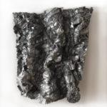 Tarbiah, resina argento e grafite, cm 120x110x20, 2016