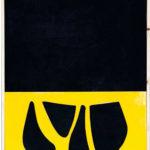 Senza titolo, Plexiglass giallo su tela dipinta, cm 70x50, 2003