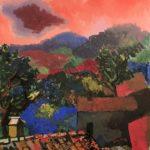 Renato Guttuso, Tetti a Velate, olio su tela, cm 65x50, 1956